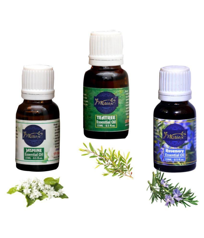 Moriox Jasmine Oil,Tea Tree Oil,Rosemary essential oils-Pack of 3 Aromas/Diffuser/Soap Oil Essential Oil 180 g
