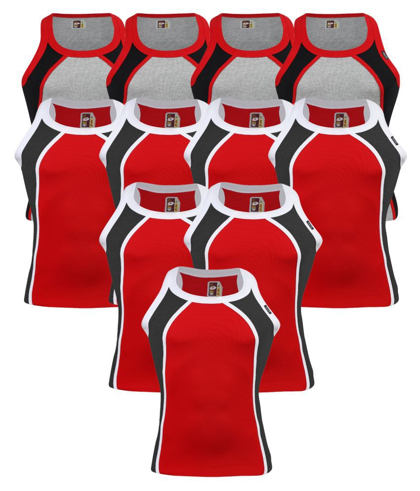 Euro Multi Sleeveless Vests Pack of 11