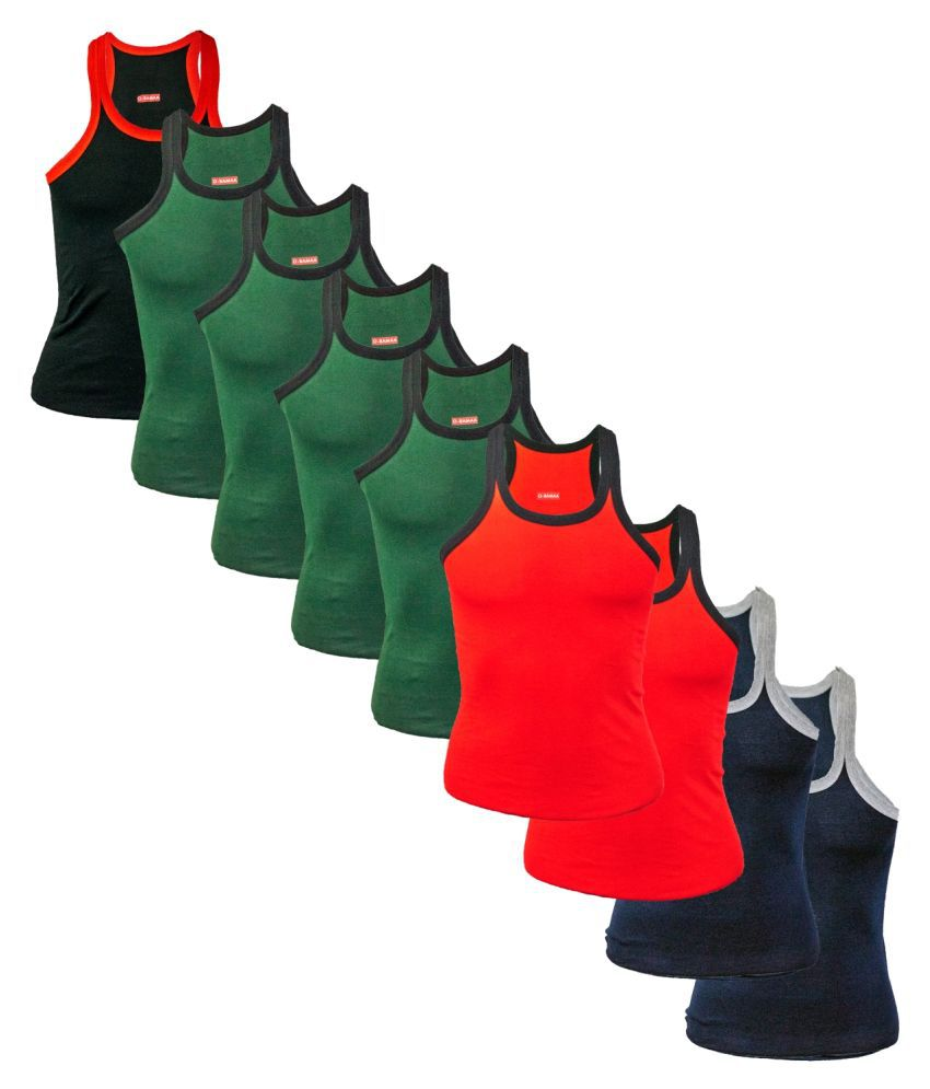 Rupa Multi Sleeveless Vests Pack of 9