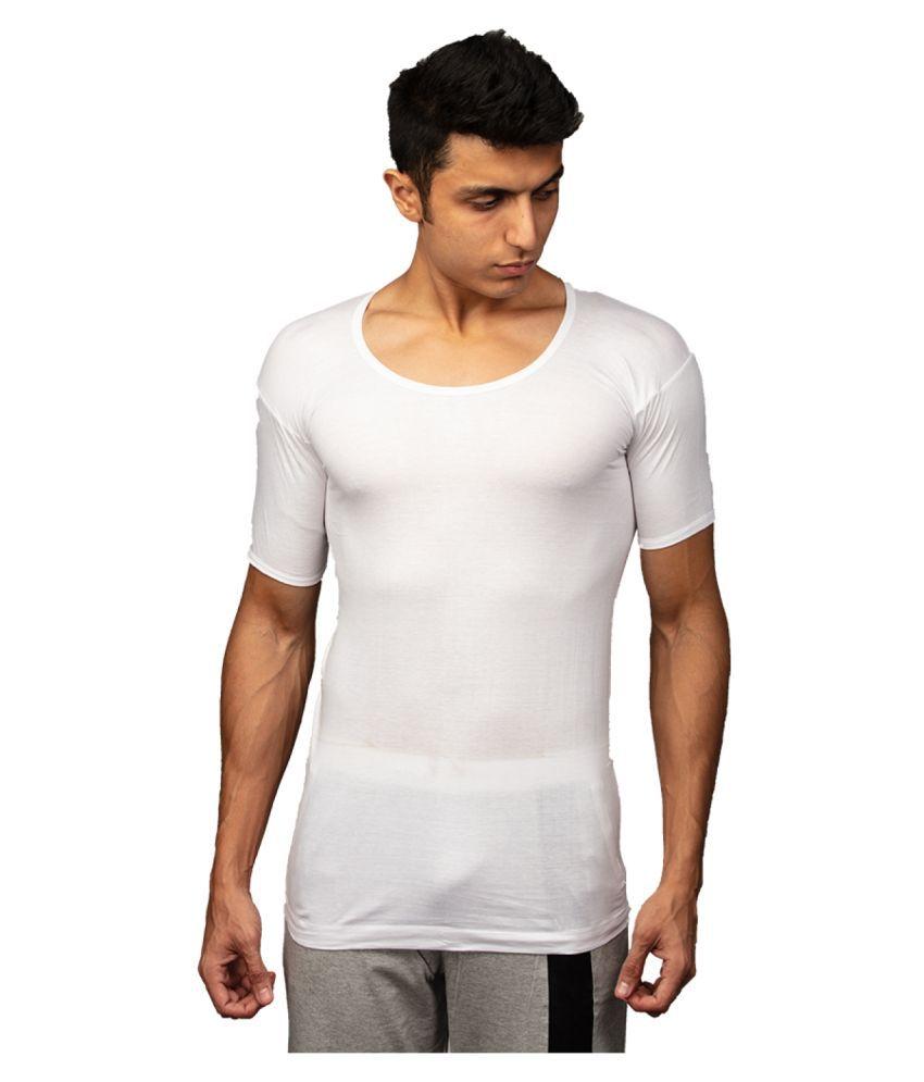 Rupa White Half Sleeve Vests Single Pack