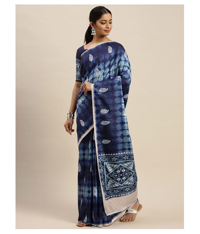Sherine Blue Dola Silk Saree