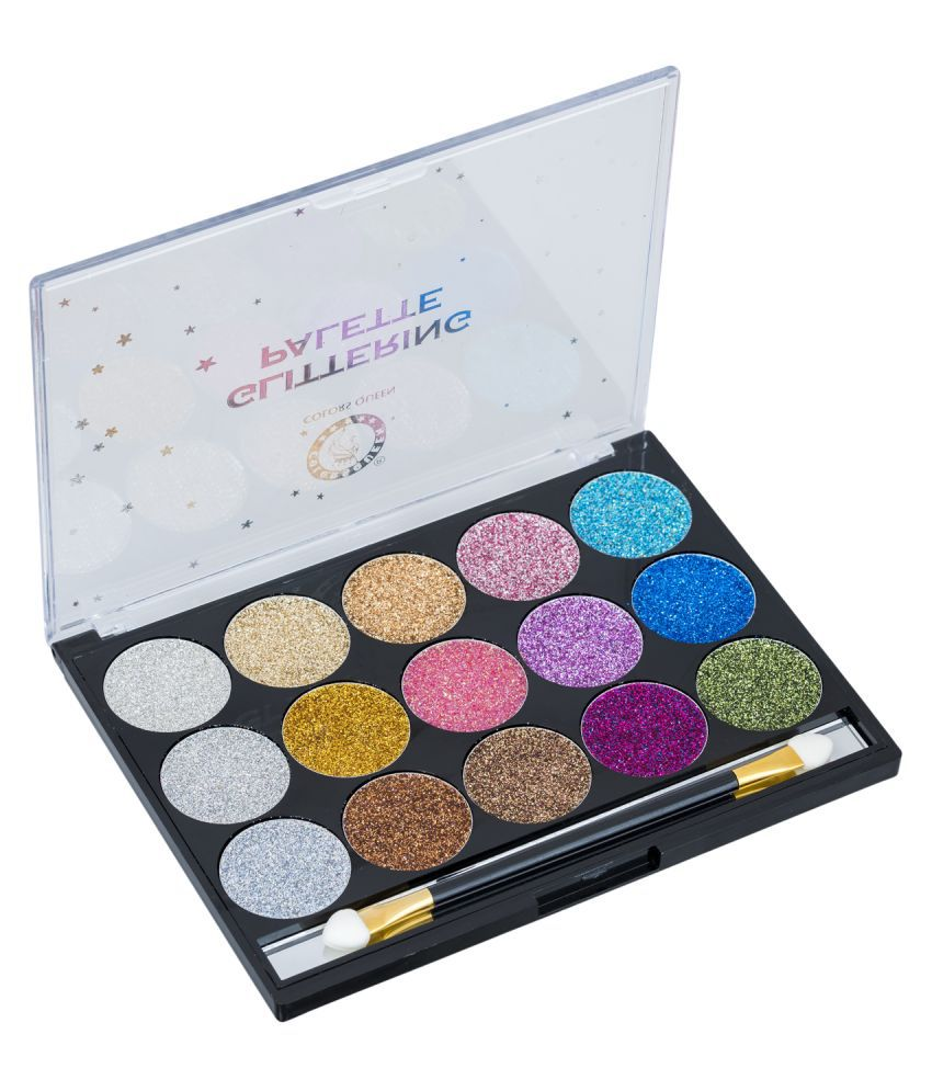 Colors Queen Glittering Palette Eye Shadow Cream-to-powder Colours 18 g