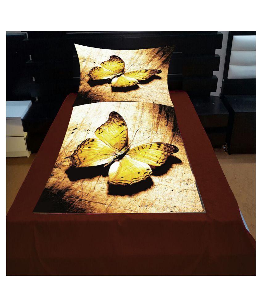 Vikas Trading Velvet Single Bedsheet with 1 Pillow Cover ( 228 cm x 152 cm )