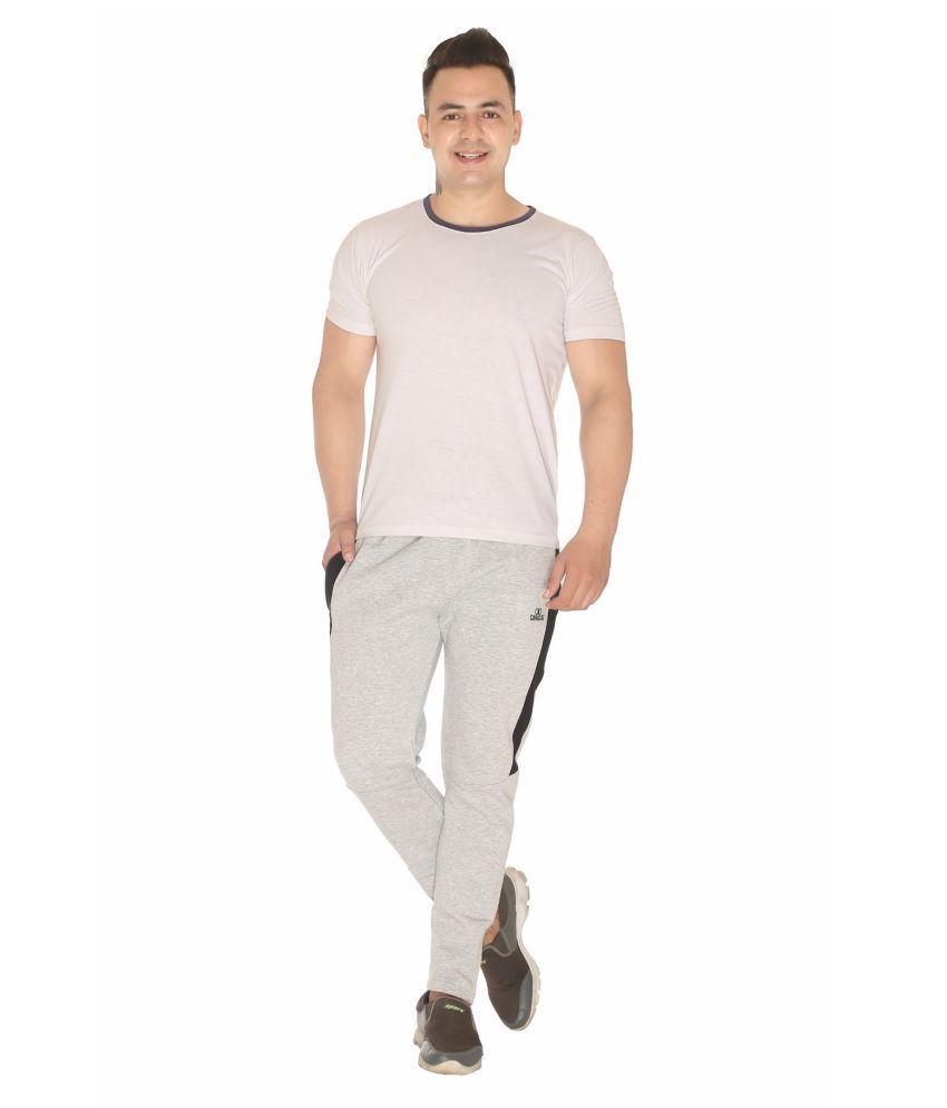 CARACAS Light Grey Fleece Trackpants Single