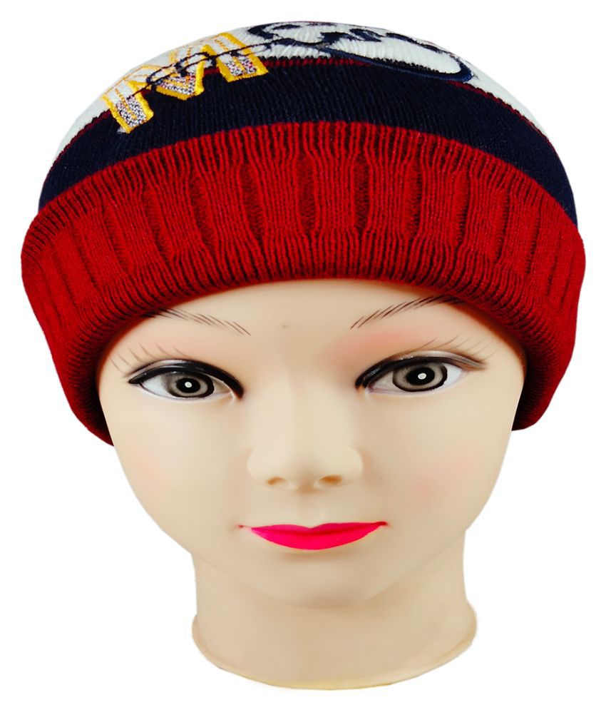 Warmzone Kids Beanie Cap Striped Stylish Design  (0136C)