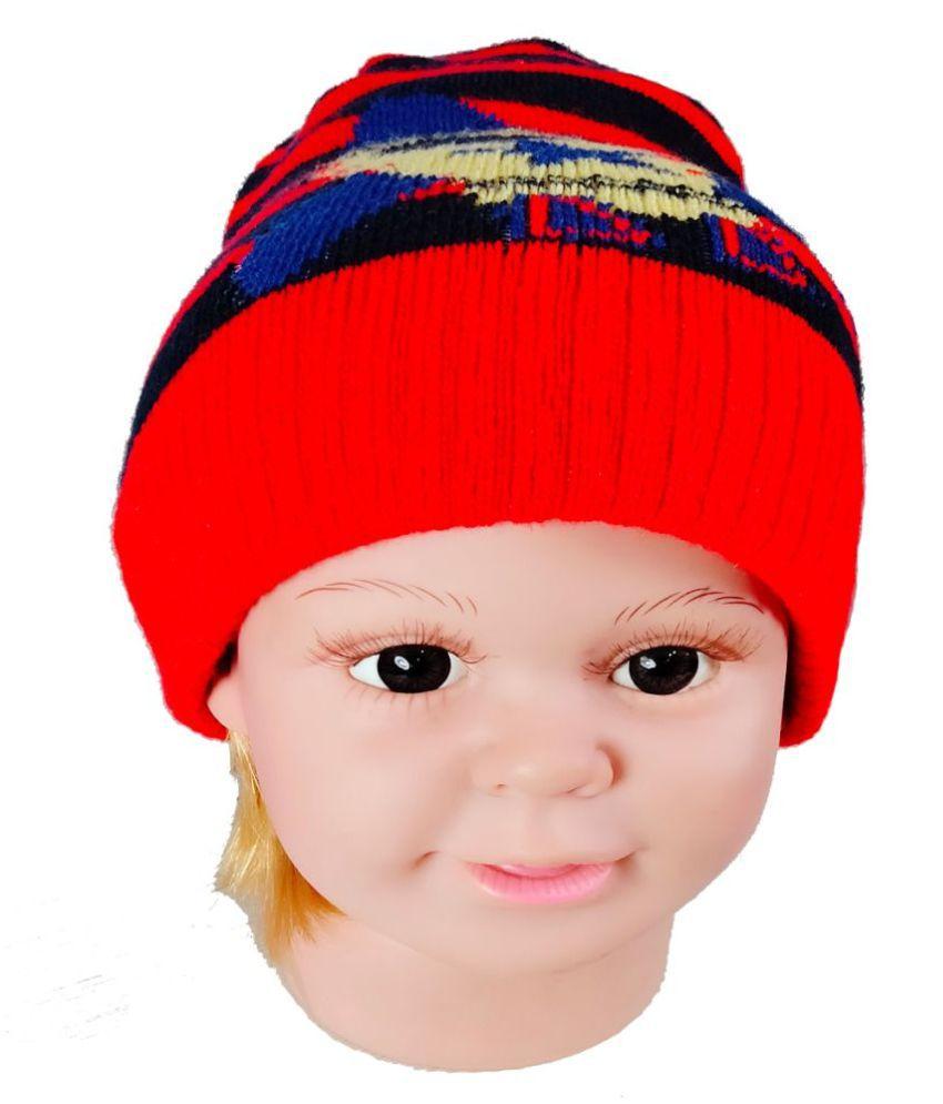 Warmzone Winter Striped MultiColor Kids Stylish Cap ( 0127C )