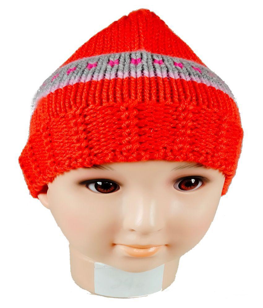 Warmzone Kids Beanie Cap Solid Color Design  (0204C)