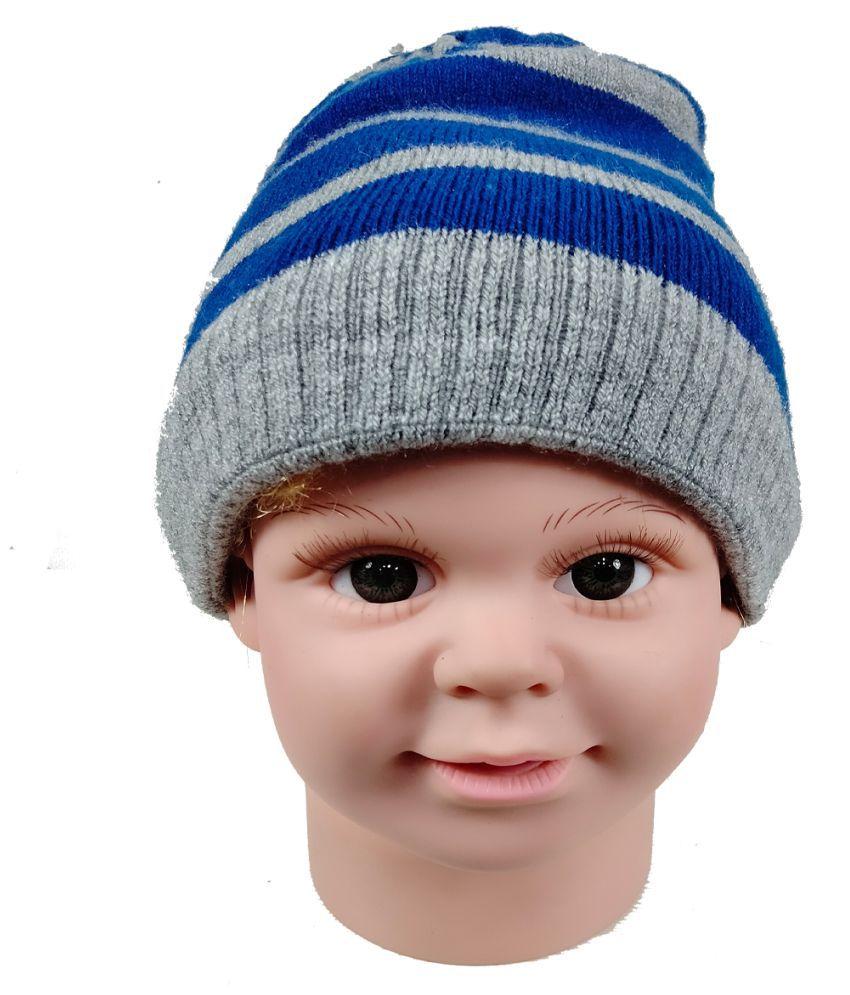Warmzone Winter Striped MultiColor Kids Stylish Cap ( 0219C )