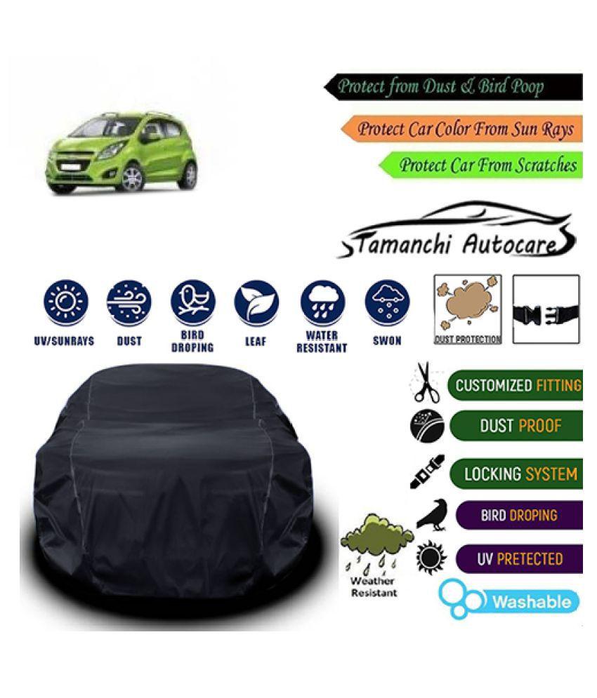 Tamanchi Autocare Car cover for Chevrolet Beat [2009-2011] Black