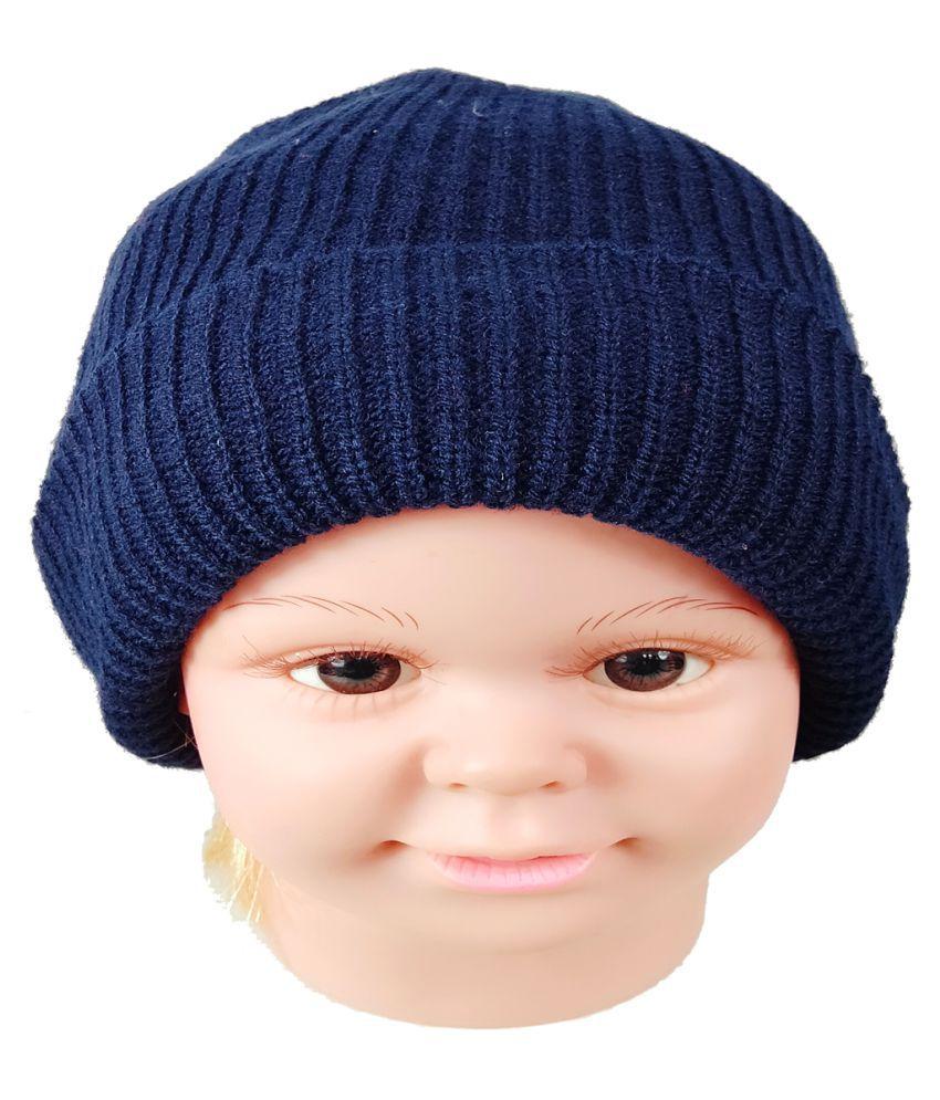 Warmzone Kids Beanie Cap Solid Color Stylish Design  (1383C)