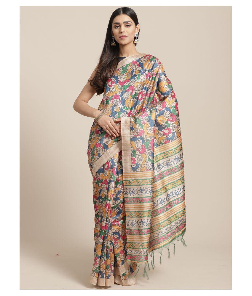 Sherine Beige Silk Blend Saree