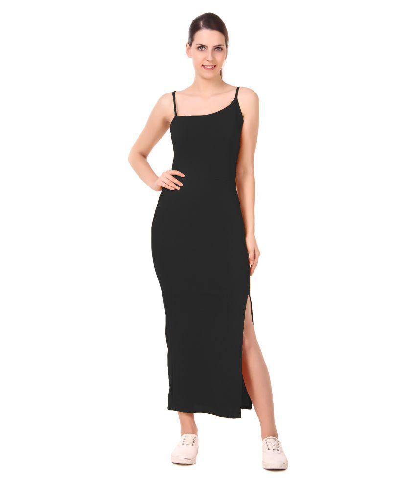 DYRECTDEALS Polyester Black Bodycon Dress
