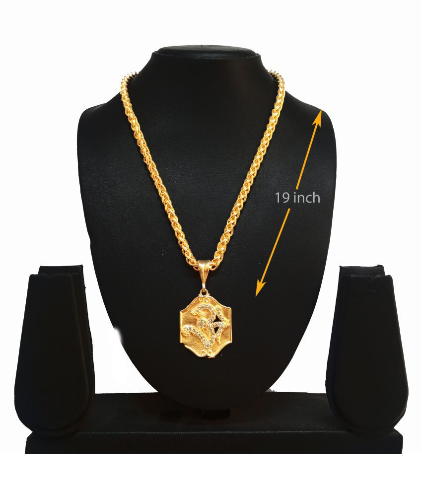 KRIMO GOLD PLATED PENDANT AND CHAIN FOR MEN OR BOYS-100368