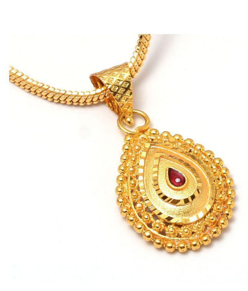 Jewar Mandi Pendant/Locket Gold Plated With Chain