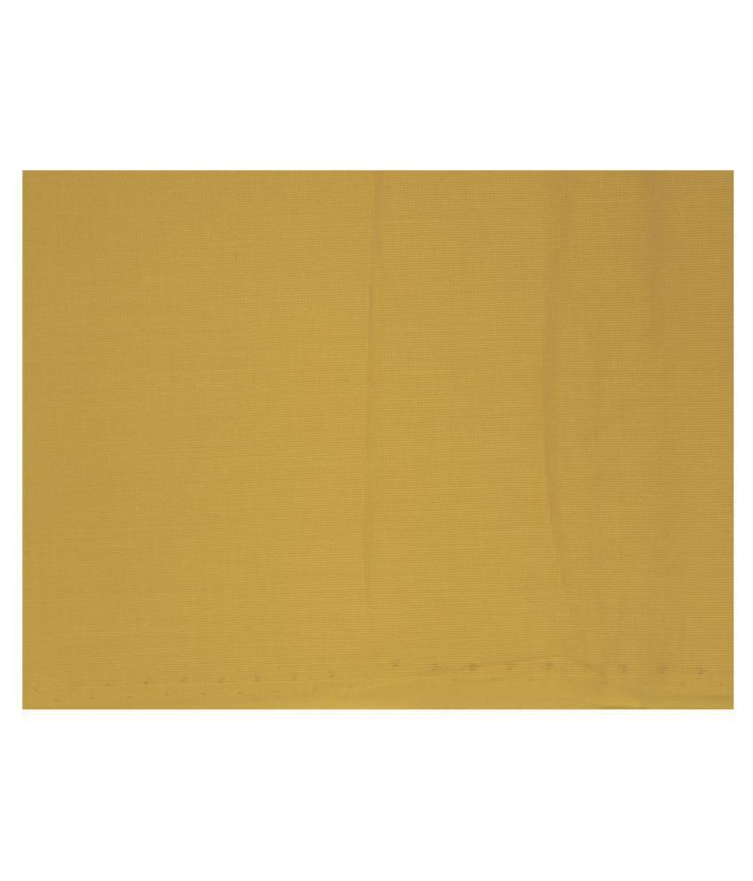 J Hampstead Yellow 100 Percent Cotton Unstitched Shirt pc
