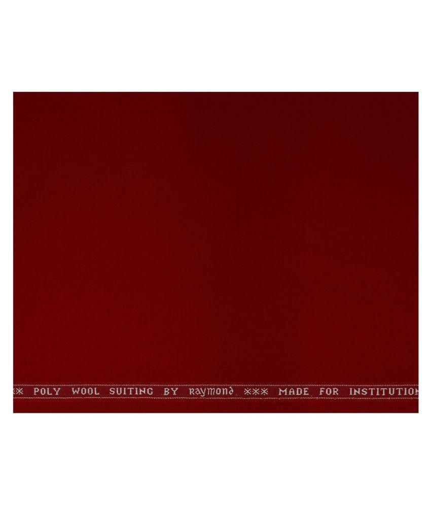 Raymond Red Woollen Unstitched Suit Piece