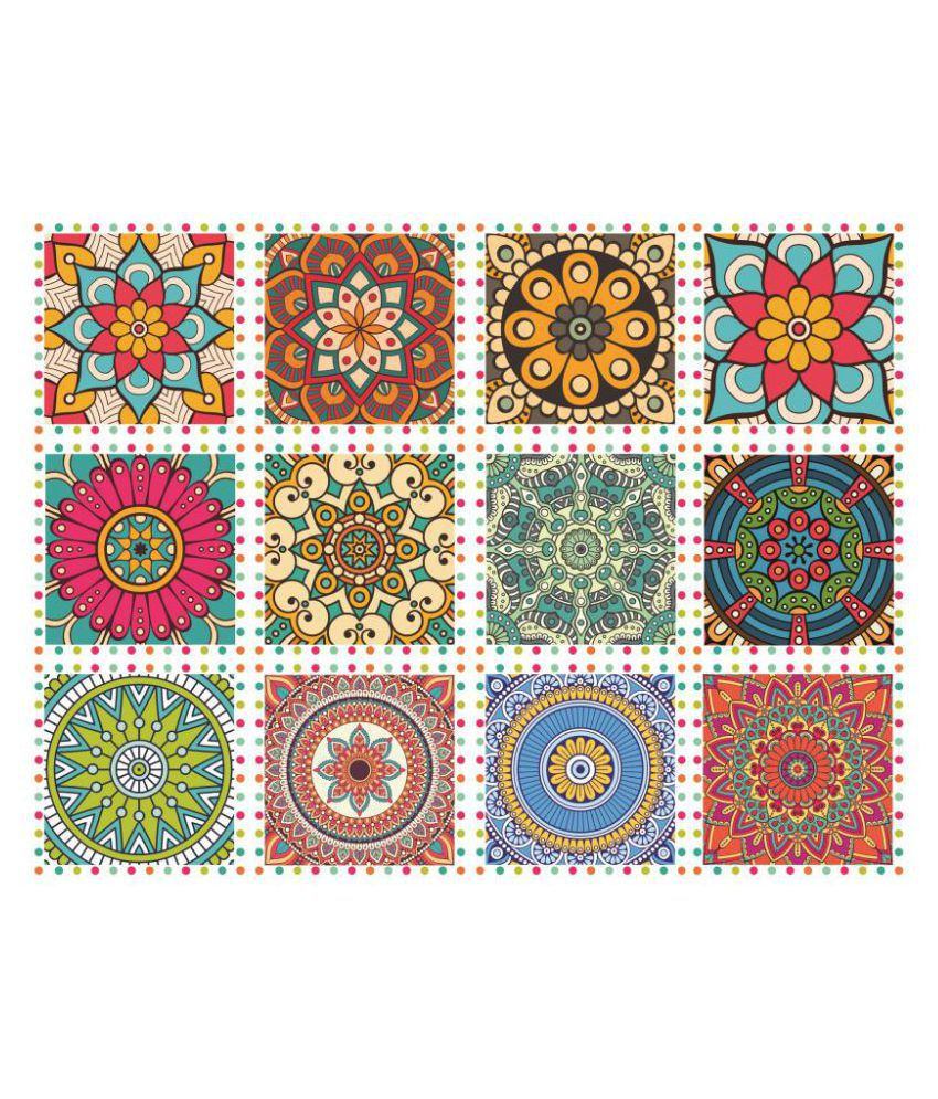 Tile Stickers Pack of 36 Pieces for Home Decor for Walls Self Adhesive Tile Sticker Each 4.4 inche by 4.4 inche (36 Pieces Set)