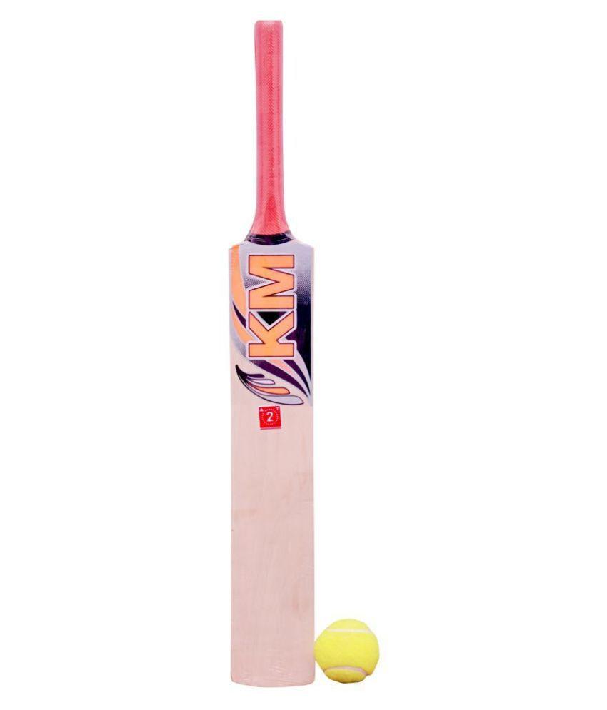 KHELO MEERUT KM cricket bat size 2with 1 ball