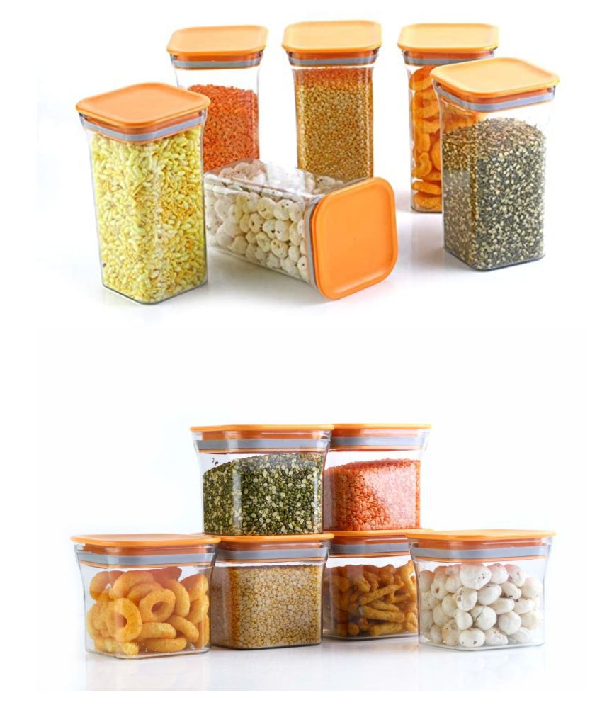 Analog Kitcehwnare Dal,Pasta,Grocery Plastic Food Container Set of 12 1100 mL