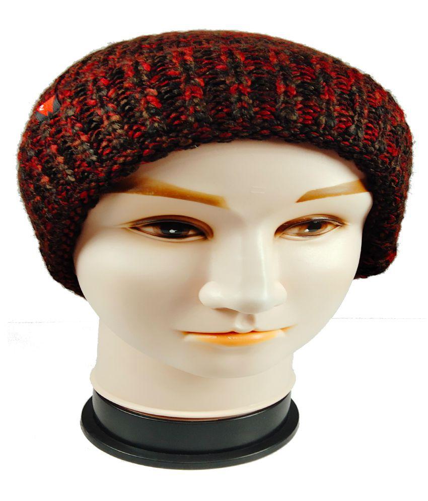 WARMZONE Maroon Striped Acrylic Caps