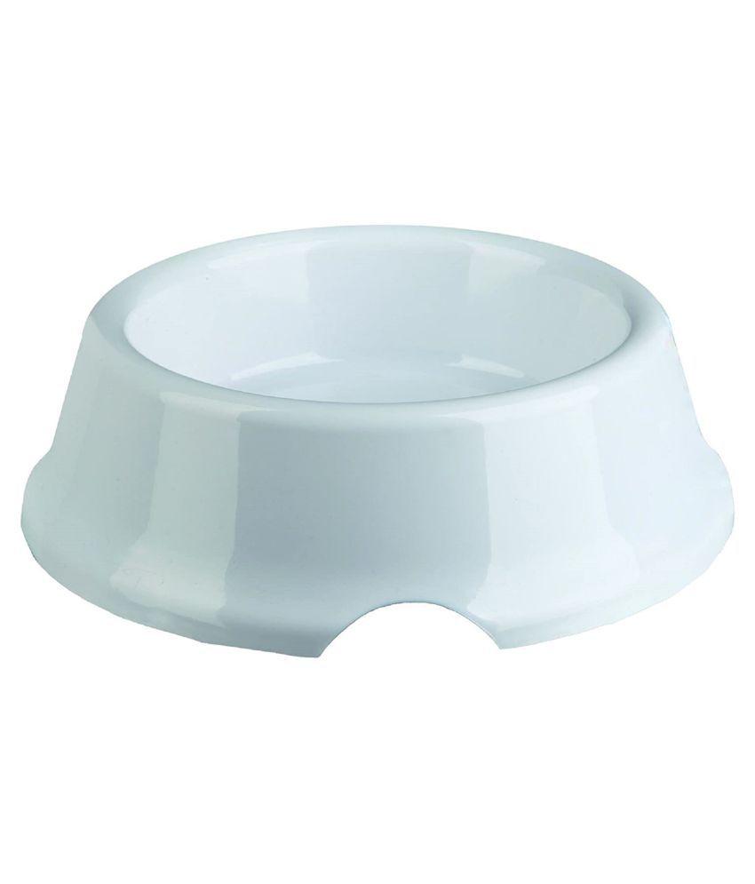 Trixie White Feeding Bowl Pack of 2