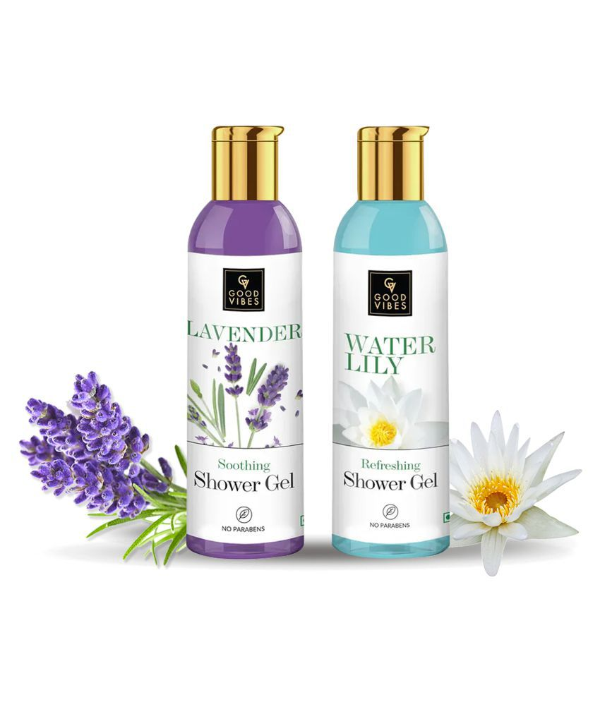 Good Vibes Floral Body Wash Collection (Lavender 200ml + Waterlily 200ml)