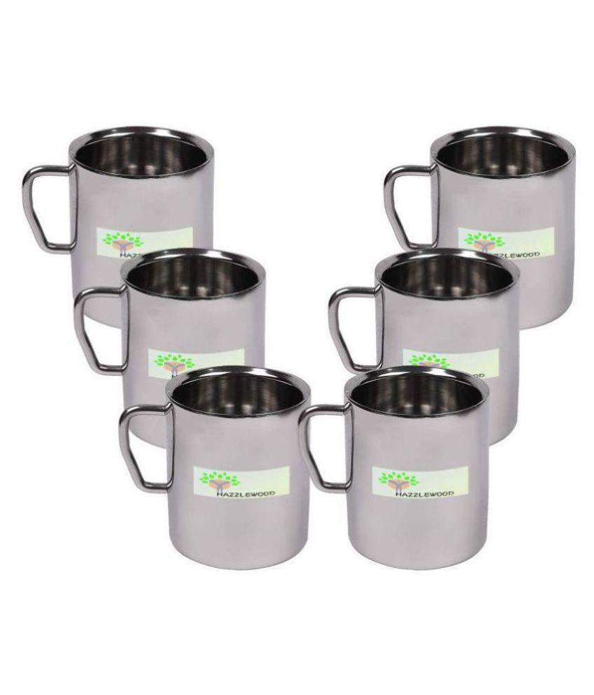 HAZZLEWOOD stainless Steel Coffee Mug 6 Pcs 250 mL