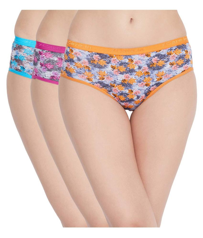 Care in Cotton Hipsters - Pack of 3