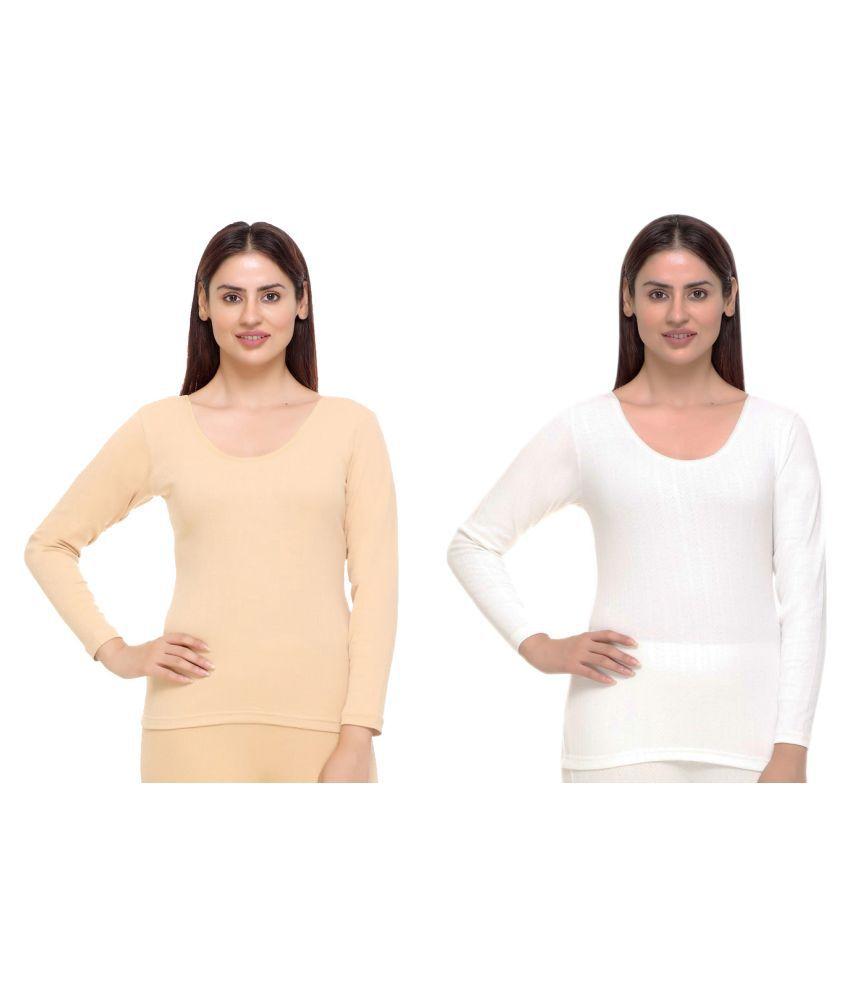 WARMZONE Cotton Blend Topwear - Beige