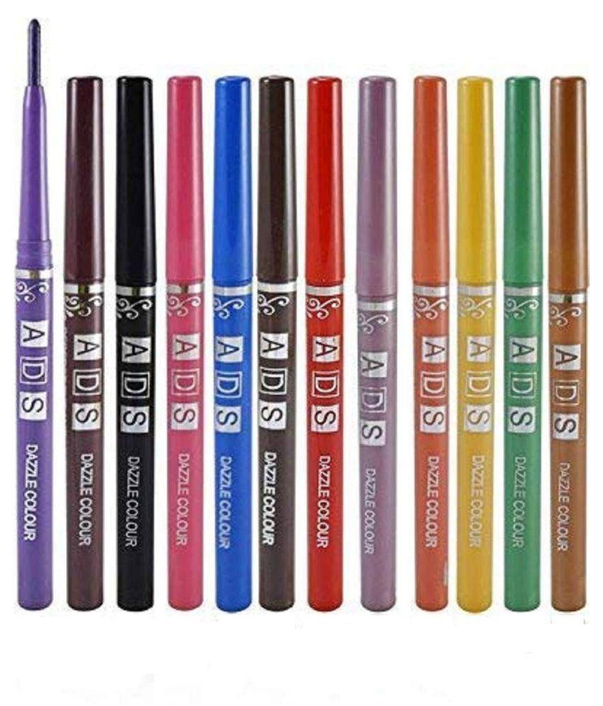 ADS Dazzle Multicolor Pencil Eyeliner Black 12 g