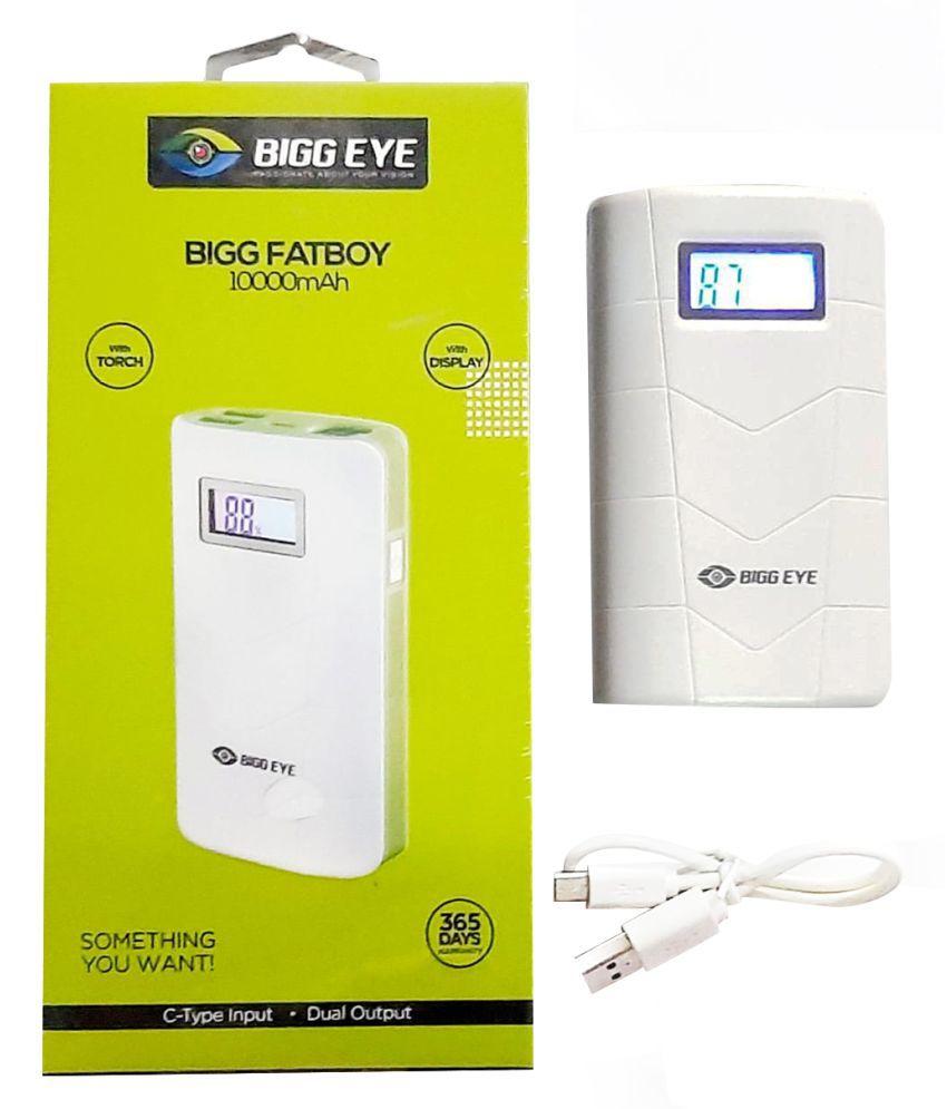 Bigg Eye BE PB 02 10000  mAh Li Polymer Power Bank Black