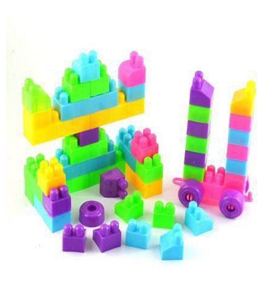 Multicolor Building Blocks Toy Building Bricks For Kids 40 Pcs