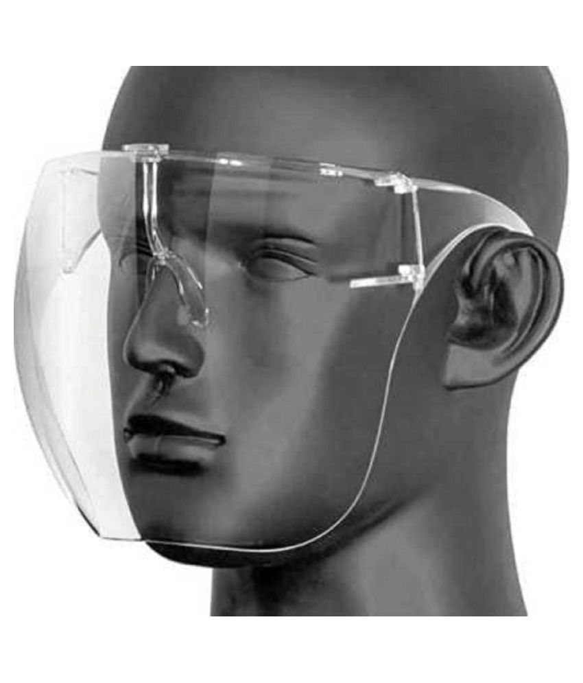 Set Of 8 Face Shield With Glasses Reusable Washable Protection Cover One Size