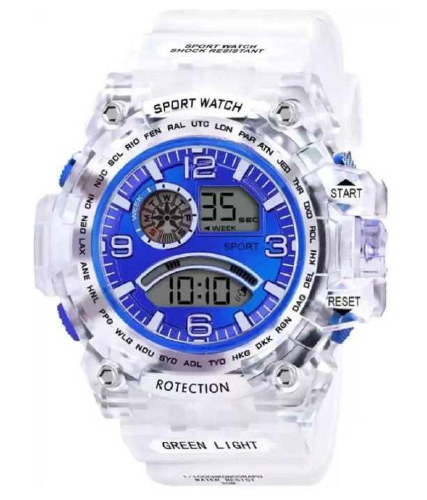Hala Abx1017 Transparent Strap Blue Dial Boy's Watch