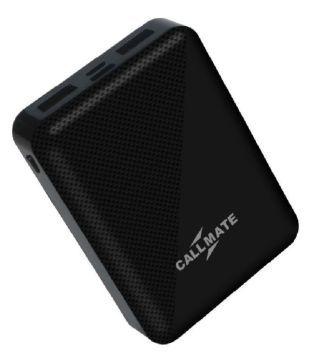 Callmate H33 2A 10000  mAh Li Polymer Power Bank Black
