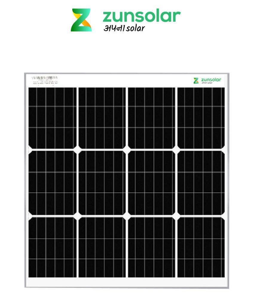 ZunSolar 50 Watt Mono PERC 50 Monocrystalline Solar Panel