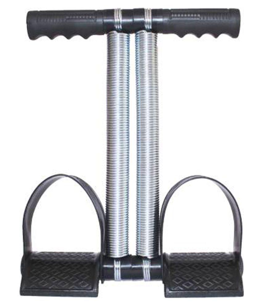 Ajro Deal Tummy Trimmer Sports Double Spring Abdominal Exerciser - Black