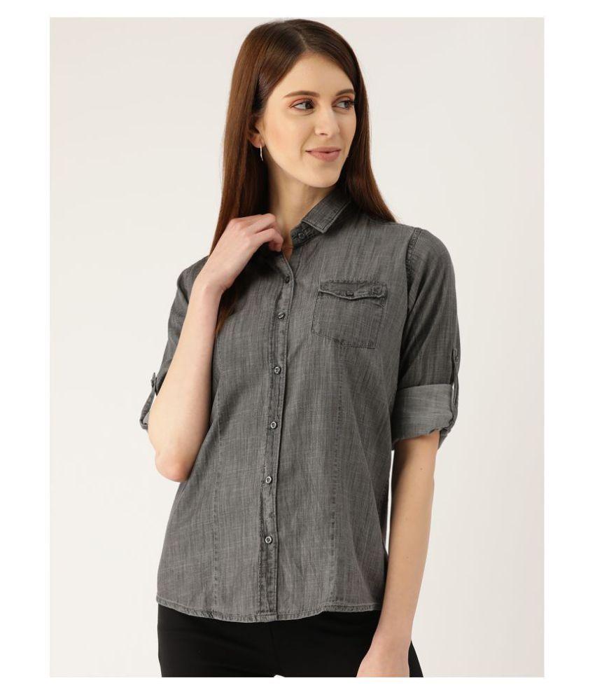 The Dry State Grey Denim Shirt - Single