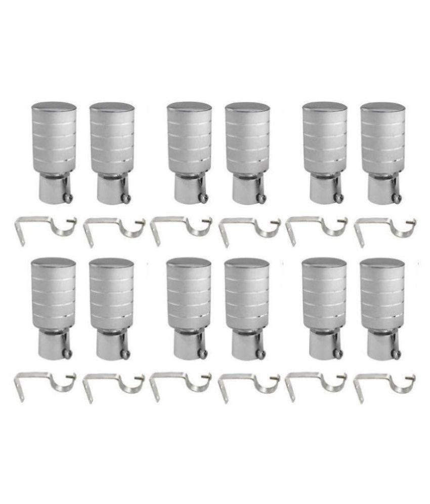 DIJA Set of 6 Aluminium Single Rod Bracket