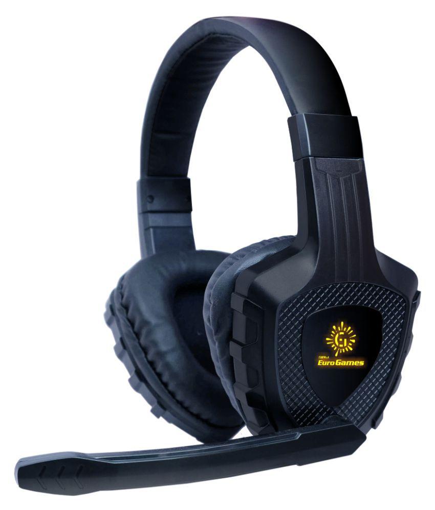 RPM Euro Games Premium Gaming Headphones Over Ear Wired With Mic Headphones/Earphones