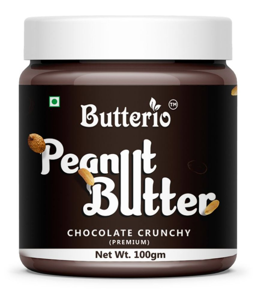 BUTTERIO FOOD & BEVERAGES Chocolate Butter Crunchy 100 gm Pack of 8