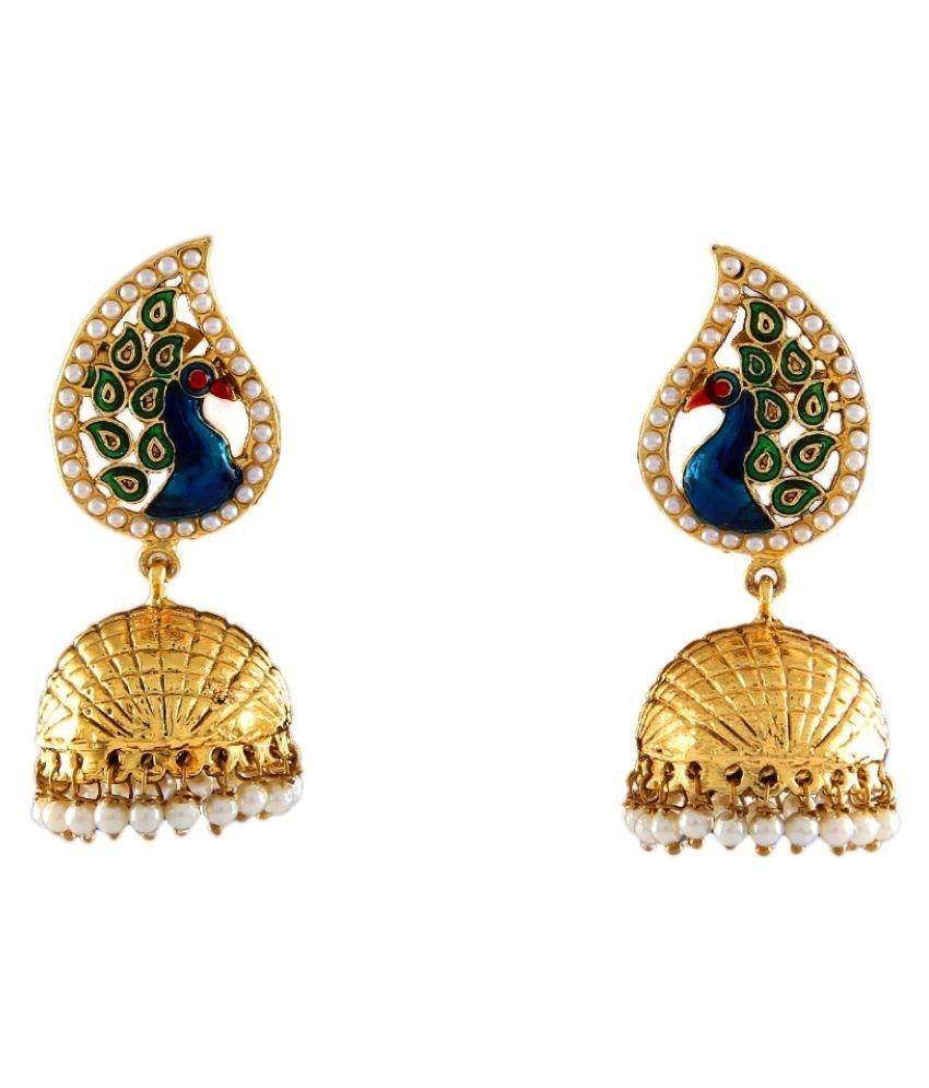 Chandbali Earrings 18K Gold Plated Ruby Ruby Modish Chandbali Earrings 18K Gold Plated Ruby for Girls and Women Modish
