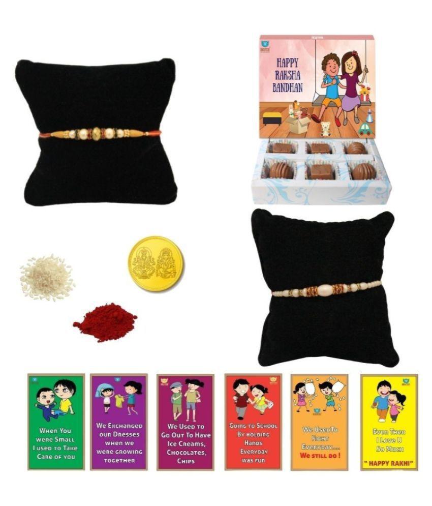 BOGATCHI Chocolate Box Rakhi Gift for Brother|Rakhi Chocolate 200 gm