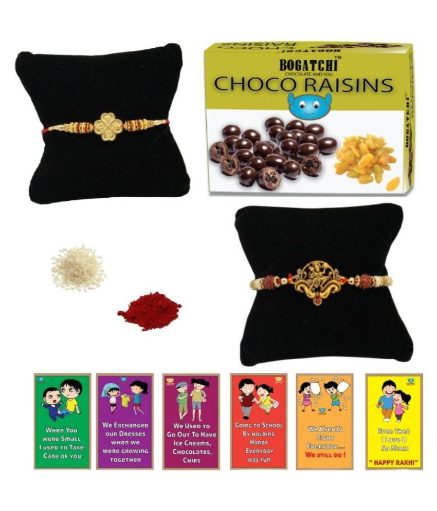 BOGATCHI Assorted Box Rakhi Gift for Brother Rakhi Chocolate 200 gm