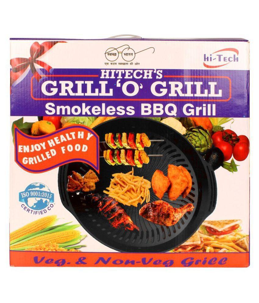 Hi-Tech's Family Cook Smokeless Grill 500 Watts Grill Pan