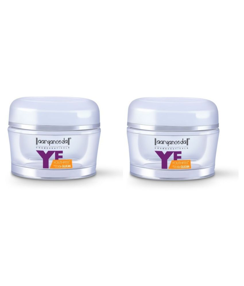 Aryanveda Herbals Unisex Anti-Glycation Youth Feel Day Cream 50 ml Pack of 2