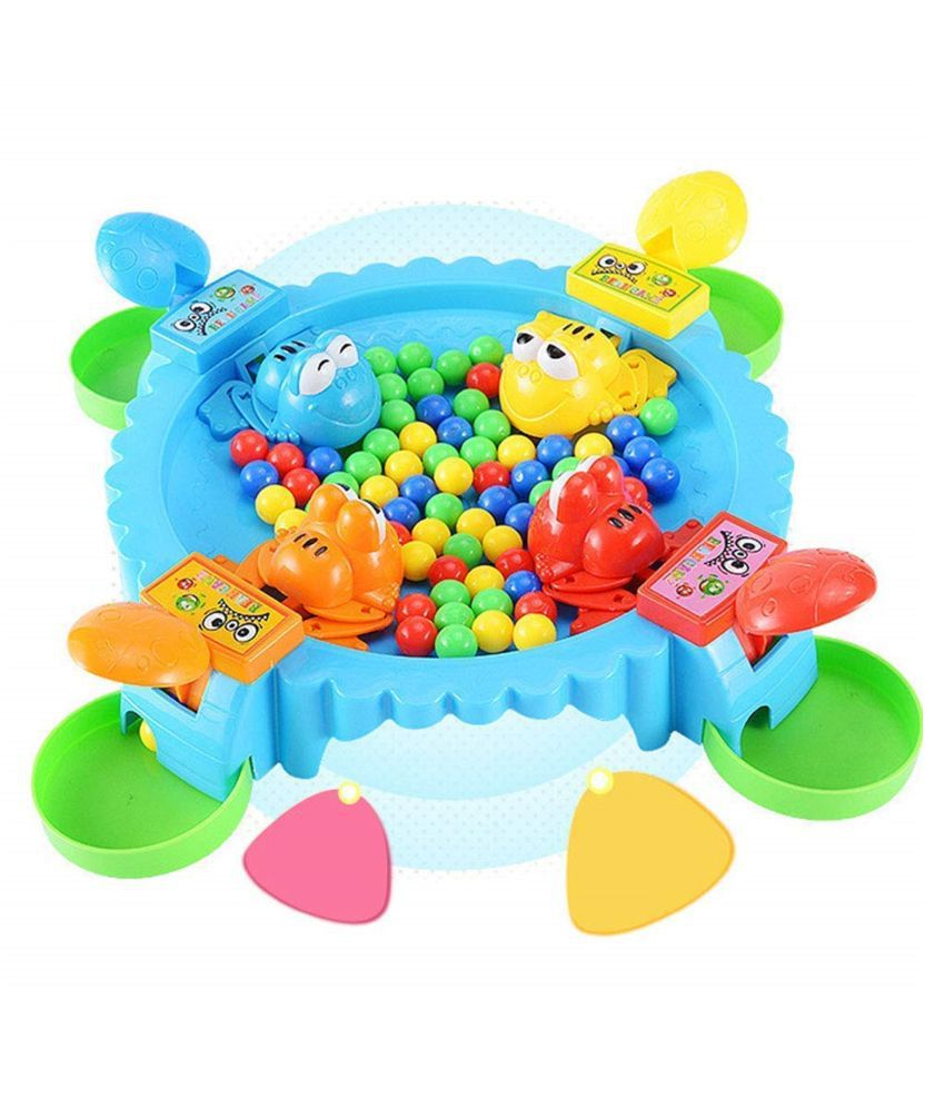 VBE Hungry Frog Game, Funny Hungry Frog Eating Beans Game, (Best for Gift to Kids)- Multicolor
