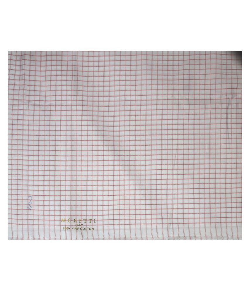 J Hampstead Multi 100 Percent Cotton Unstitched Shirt pc