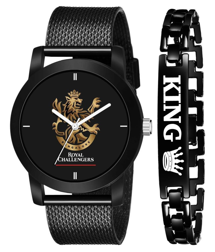 IPL RCB King Black Stylish Design Analog Watch For Boys