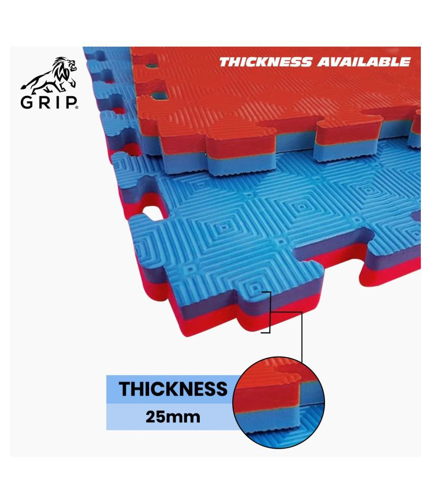 Grip Interlocking Mats For Kabaddi 1 Meter X 1 Meter, With 25 MM Thickness, Specially Designed For Outdoor And Indoor, And Very Well Suitable For Professional, As Well As Beginners | Federation Quality